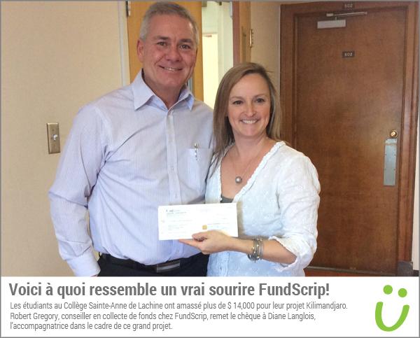 Collège Sainte-Anne de Lachine amasse plus de 14 000 $ avec leur campagne FundScrip